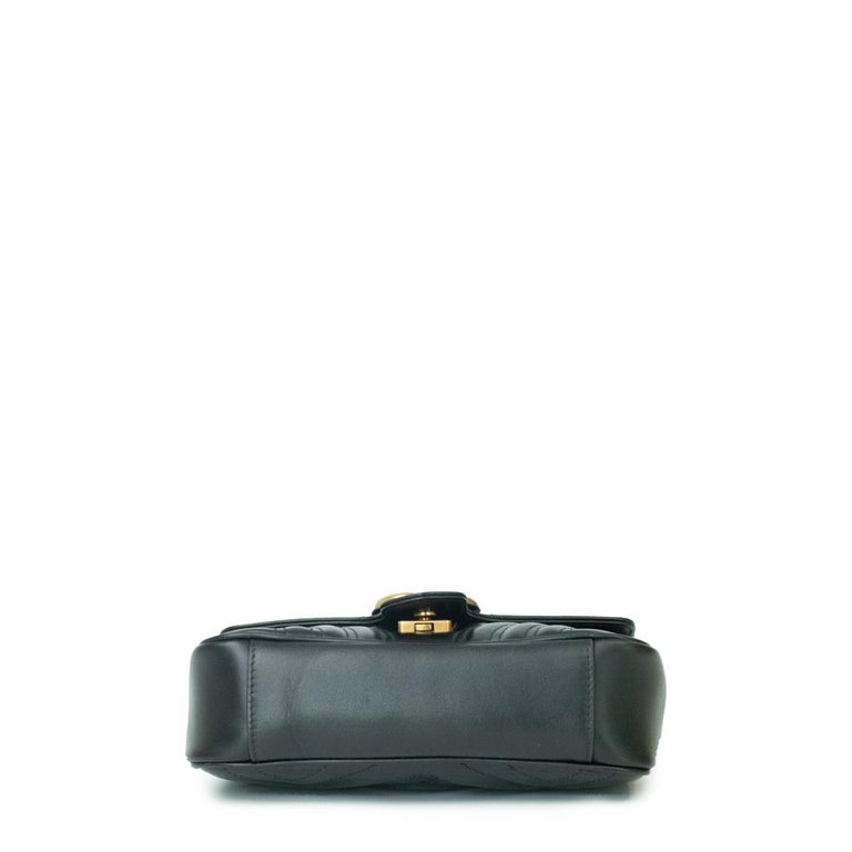 Gucci Marmont in black leather In Excellent Condition For Sale In Clichy, FR