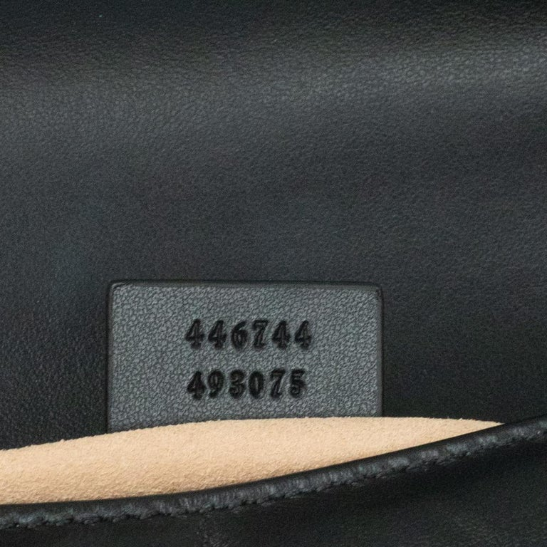 Gucci Marmont in black leather For Sale 2