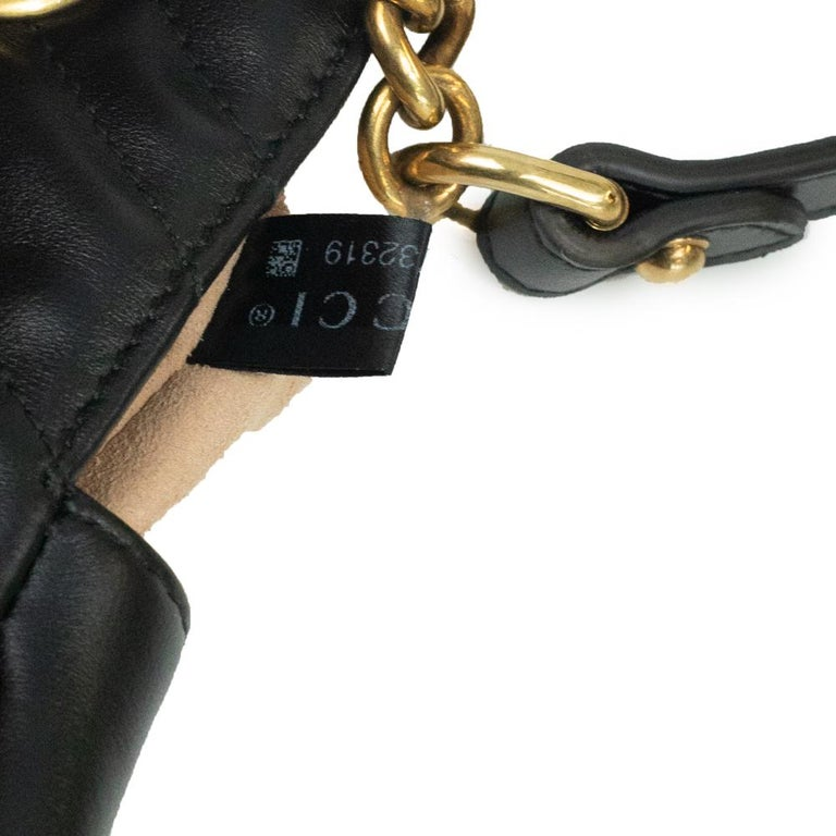 Gucci Marmont in black leather For Sale 4