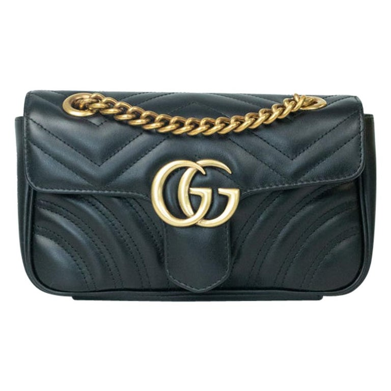 Gucci Marmont in black leather For Sale