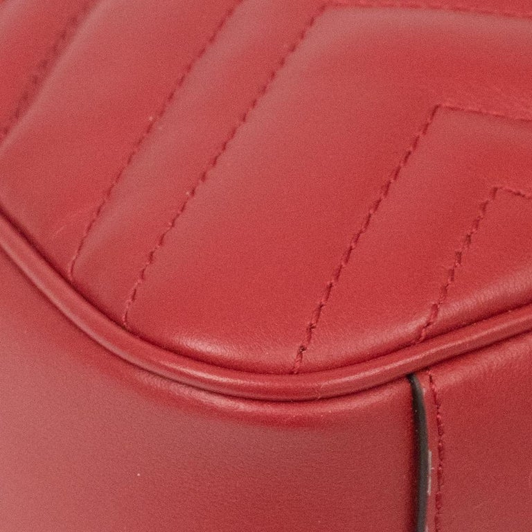 Gucci Marmont in red leather For Sale 7