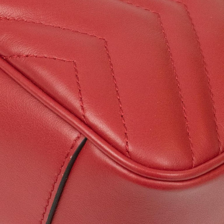 Gucci Marmont in red leather For Sale 8
