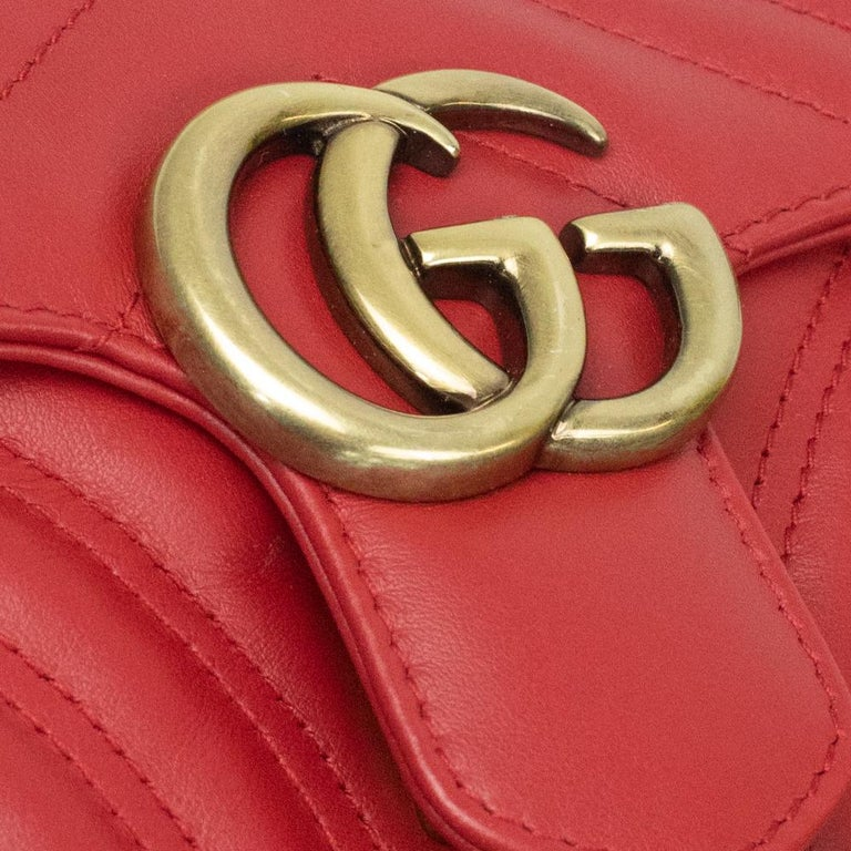 Gucci Marmont in red leather For Sale 9