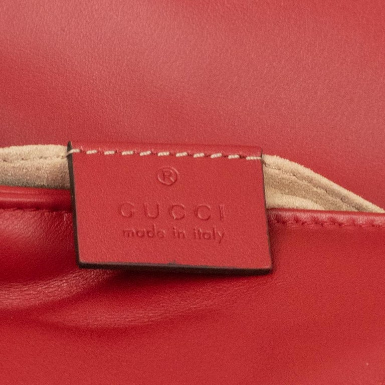 Gucci Marmont in red leather For Sale 1