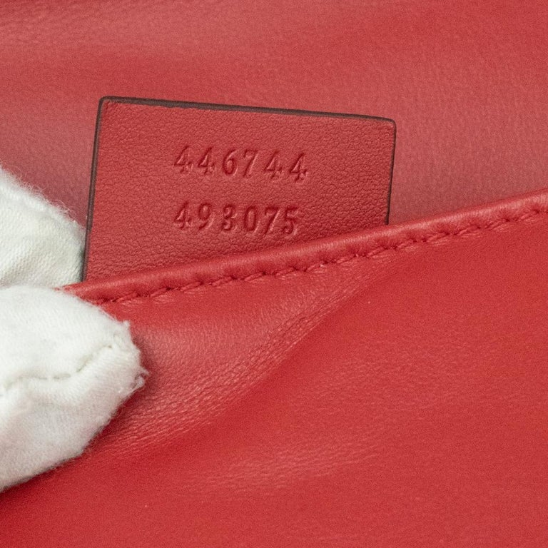 Gucci Marmont in red leather For Sale 2