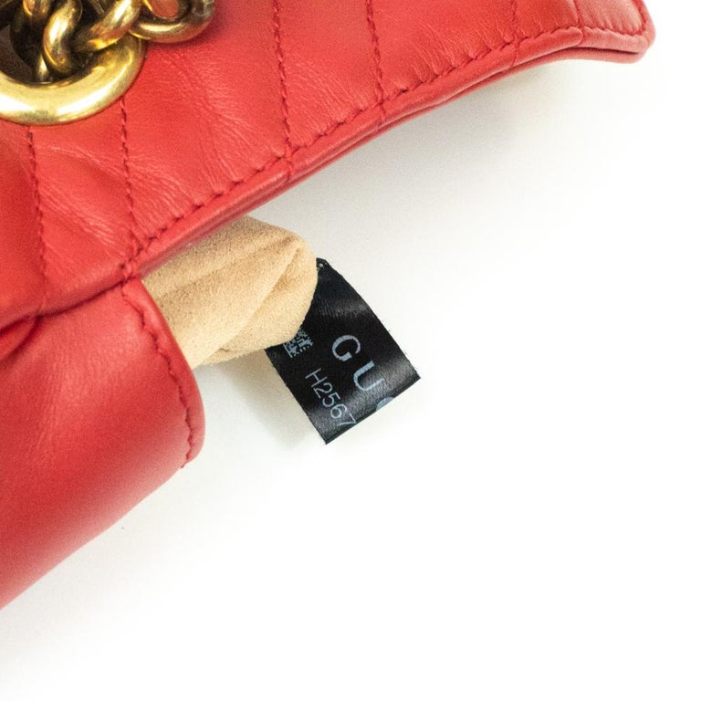 Gucci Marmont in red leather For Sale 4