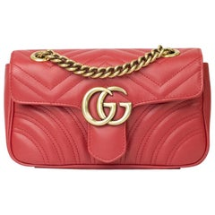 Gucci Marmont in red leather