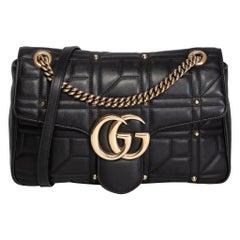 Gucci Marmont Matelasse Studded Flap Bag