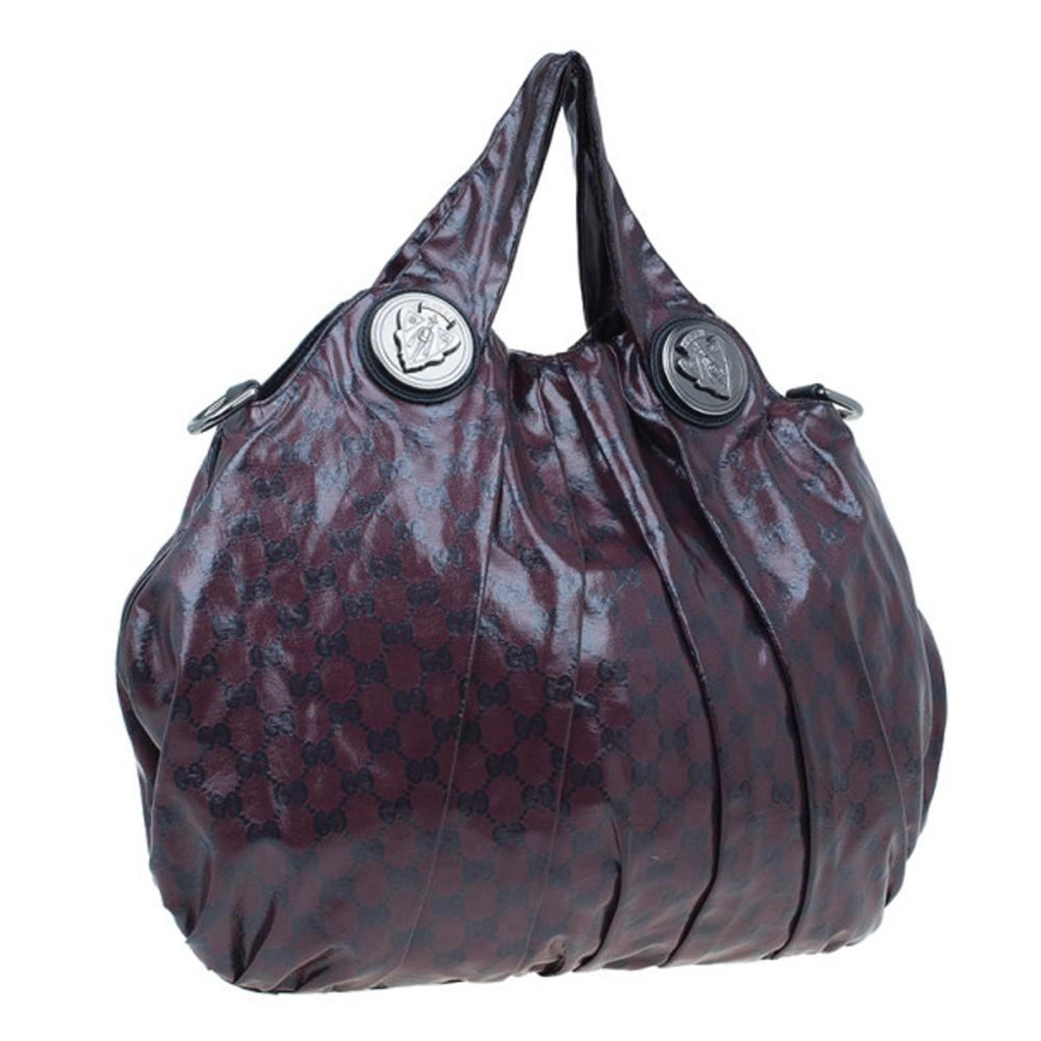 35eefd97110 Gucci Maroon Crystal Monogram Large Hysteria Top Handle Bag For Sale at  1stdibs