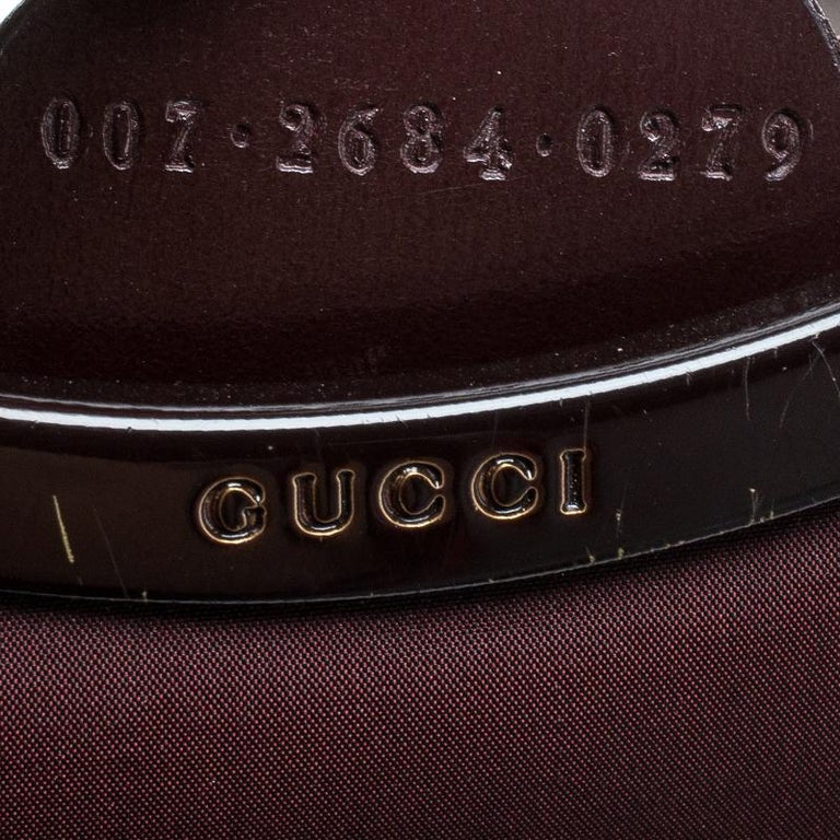 Gucci Maroon Fabric Vintage Shoulder Bag 5