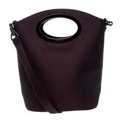 Gucci Maroon Fabric Vintage Shoulder Bag