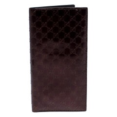 Gucci Maroon Microguccissima Leather Bifold Long Wallet