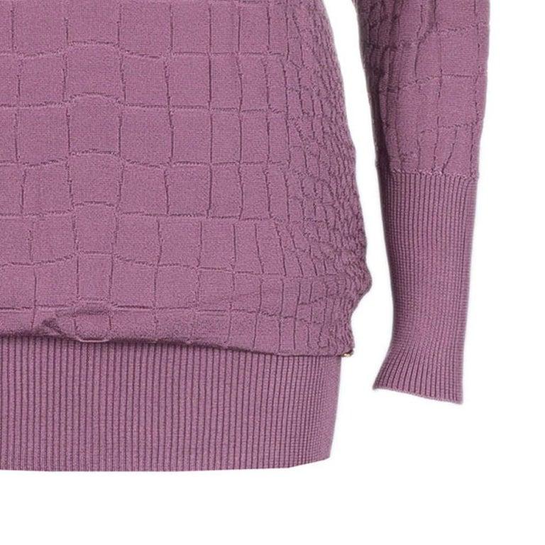 Women's Gucci Mauve Textured Knit Top M For Sale