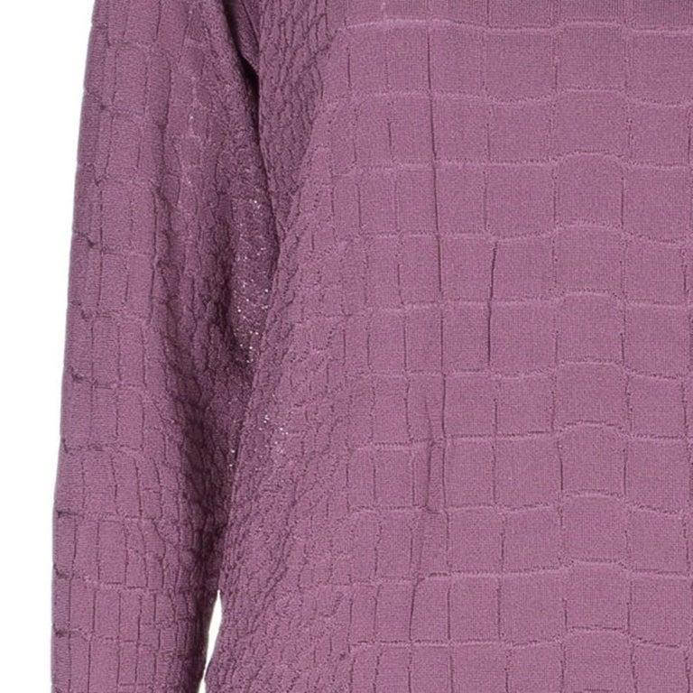 Gucci Mauve Textured Knit Top M For Sale 1