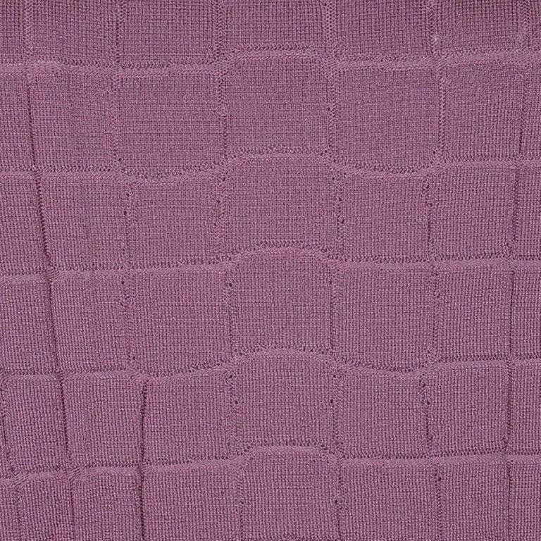 Gucci Mauve Textured Knit Top M For Sale 2