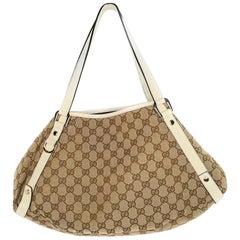 Gucci Medium GG Supreme Canvas Abbey Shoulder Hobo