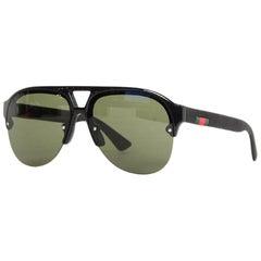 Gucci Men's Black Aviator Sunglasses w/ Web