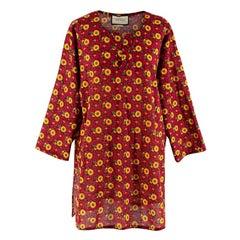 Gucci Men's Floral-Print Cotton-Muslin Tunic - Us Size 40