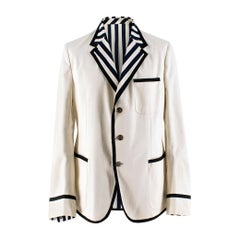 Gucci Men's New Palma Solid-to-Stripe Reversible Blazer 7-52R