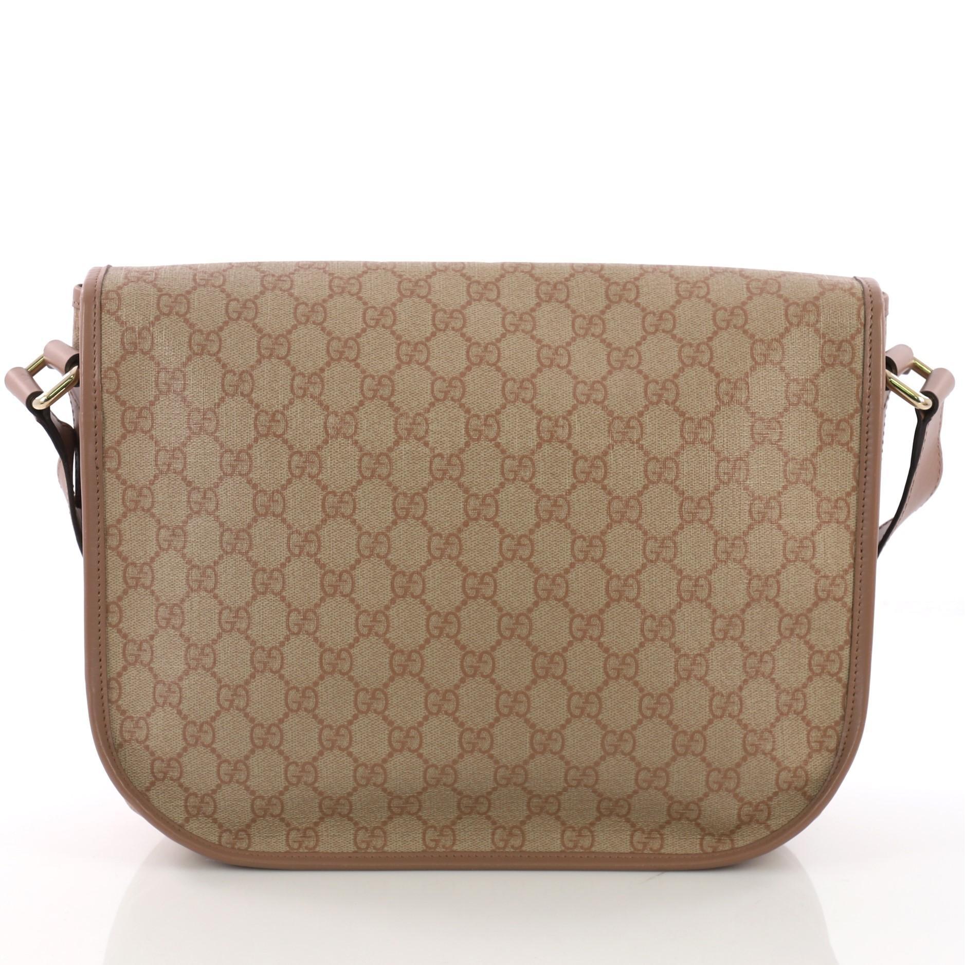 0b9feb3c741 Gucci Messenger Buckle Bag GG Coated Canvas Medium at 1stdibs