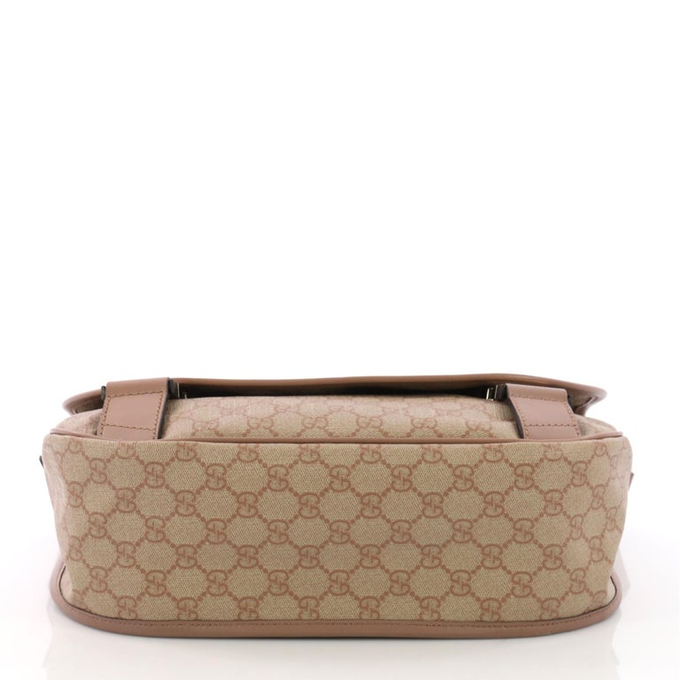 aec4c2ab1823 Women's or Men's Gucci Messenger Buckle Bag GG Coated Canvas Medium For Sale