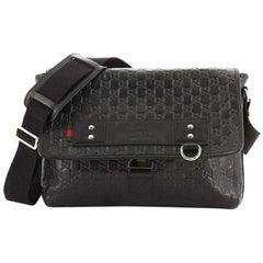 Gucci Messenger Flap Bag Guccissima Rubber