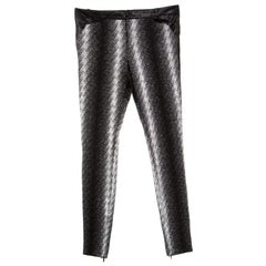 Gucci Metallic Argyle Patterned Lurex Knit Skinny Pants S