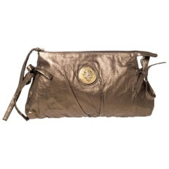 Gucci Metallic Leather Large Hysteria Clutch
