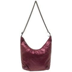 Gucci Metallic Purple Leather Galaxy Slouchy Hobo