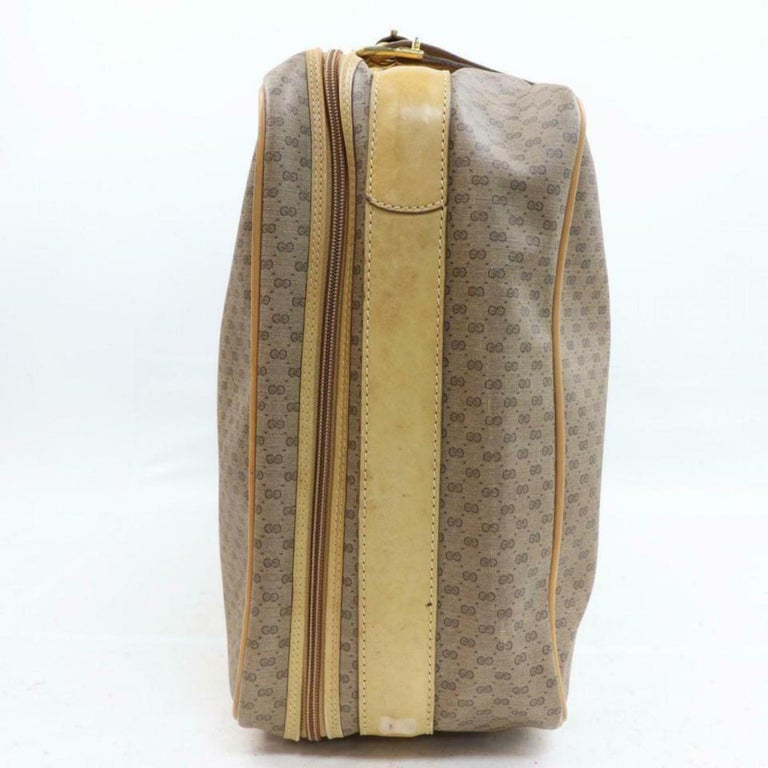adfbb7e3edff3c Gucci Micro Gg Logo Suitcase Luggage 870257 Coated Canvas Weekend/Travel Bag  For Sale 2