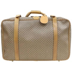 Gucci Micro Gg Logo Suitcase Luggage 870257 Coated Canvas Weekend/Travel Bag