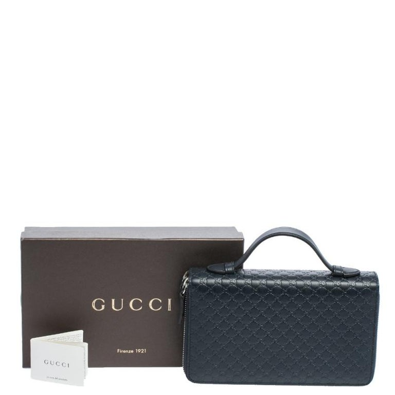 Gucci Microguccissima Leather Double Zip Organizer Clutch 5