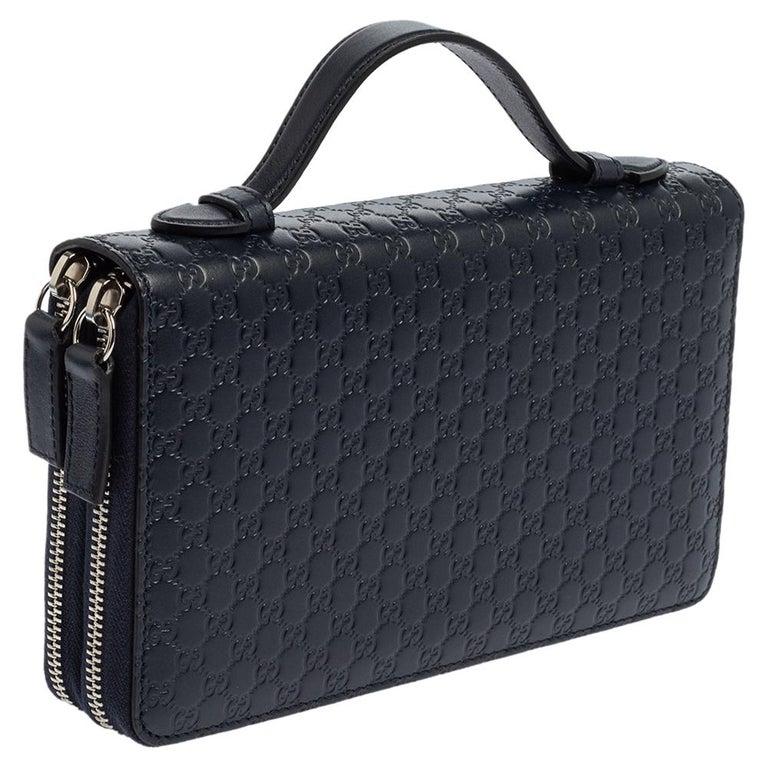 Gucci Microguccissima Leather Double Zip Organizer Clutch In New Condition In Dubai, Al Qouz 2
