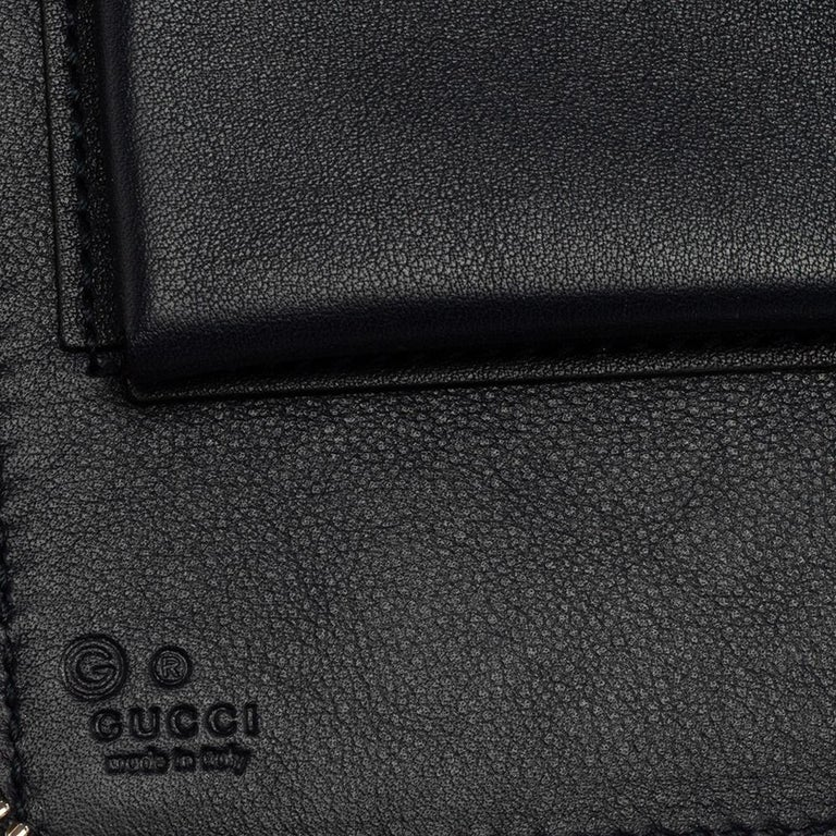 Women's Gucci Microguccissima Leather Double Zip Organizer Clutch