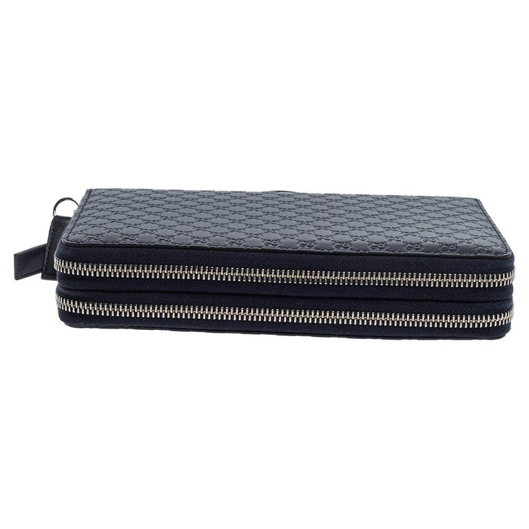 Gucci Microguccissima Leather Double Zip Organizer Clutch 3