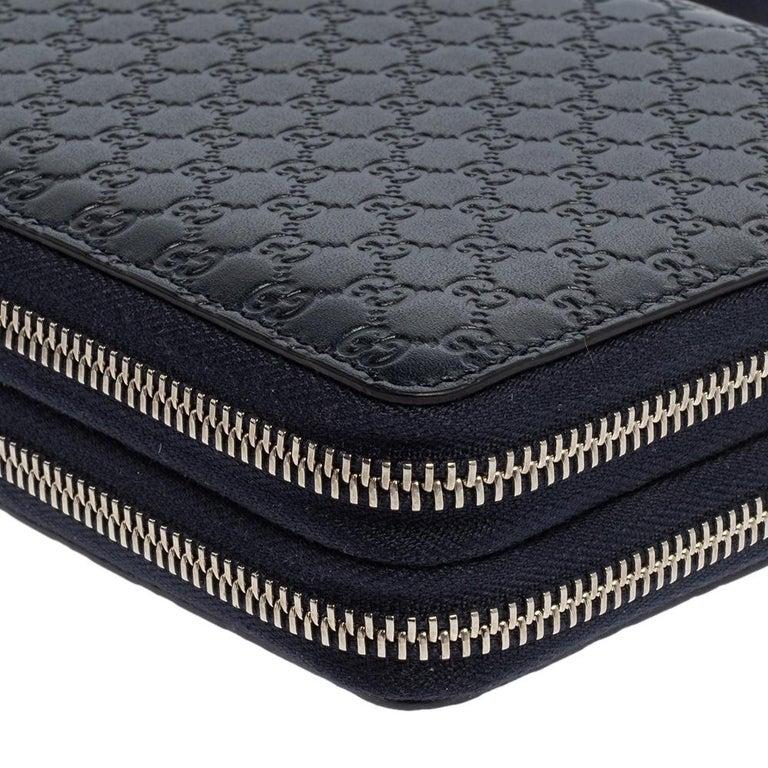 Gucci Microguccissima Leather Double Zip Organizer Clutch 4