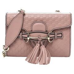 Gucci Microguccissima Mini Emily Shoulder Bag - Soft Pink