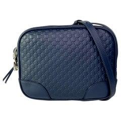 Gucci Midnight Blue Microguccissima Mini Bree Messenger Bag (449413)