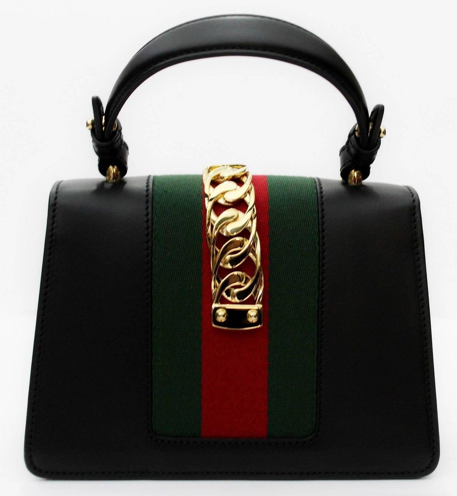 78593c35010126 Gucci Mini Black Sylvie Bag 2018 For Sale at 1stdibs