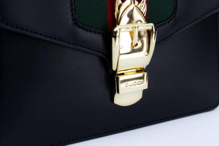 Women's Gucci Mini Black Sylvie Bag 2018 For Sale