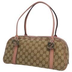 GUCCI Mini boston Womens Boston bag 232958 beige x pink