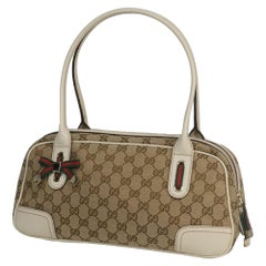 GUCCI Mini boston Womens shoulder bag 161720 beige x white
