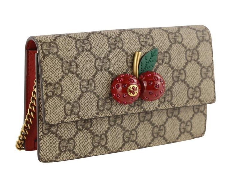 Gucci Mini With Cherries Red Gg Supreme Canvas Cross Body Bag For Sale 7