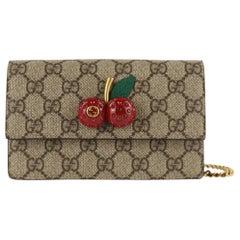 Gucci Mini With Cherries Red Gg Supreme Canvas Cross Body Bag