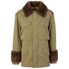Gucci Mink Fur-Trim Cotton-Parka Jacket