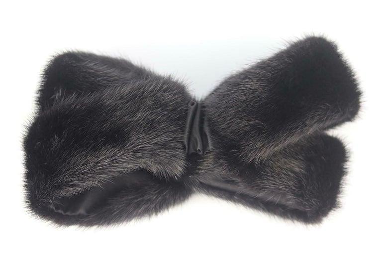 Black Gucci Mink Fur Twist Front Headband For Sale