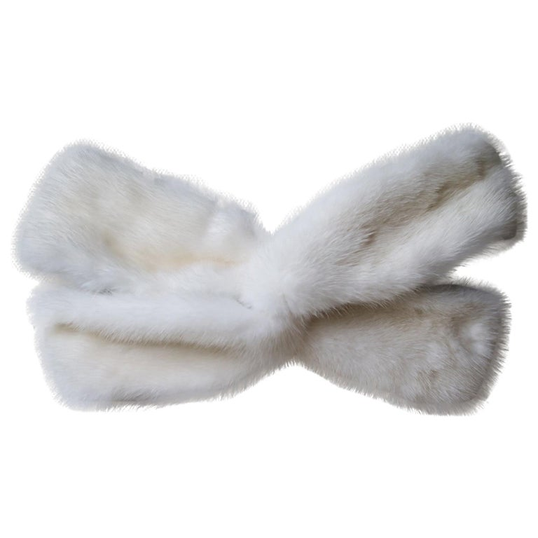 Gucci Mink-Fur Twist-Front Headband For Sale