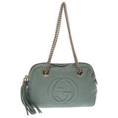 Gucci Mint Green Leather Medium Soho Chain Shoulder Bag