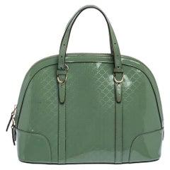 Gucci Mint Green Microguccissima Patent Leather Nice Satchel