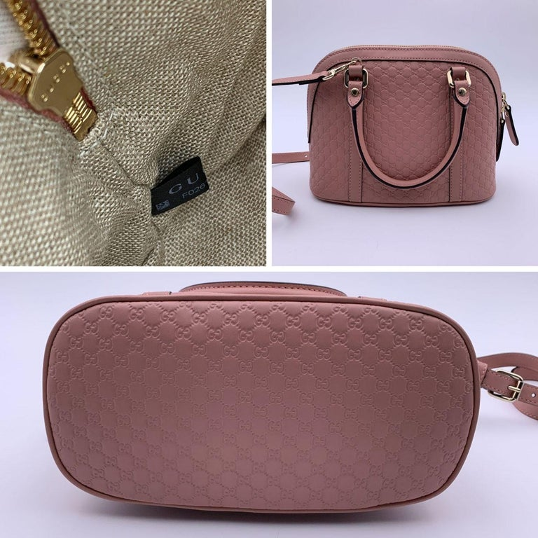 Gucci Mint Pink Micro Guccissima Leather Dome Bag Satchel In New Condition In Rome, Rome